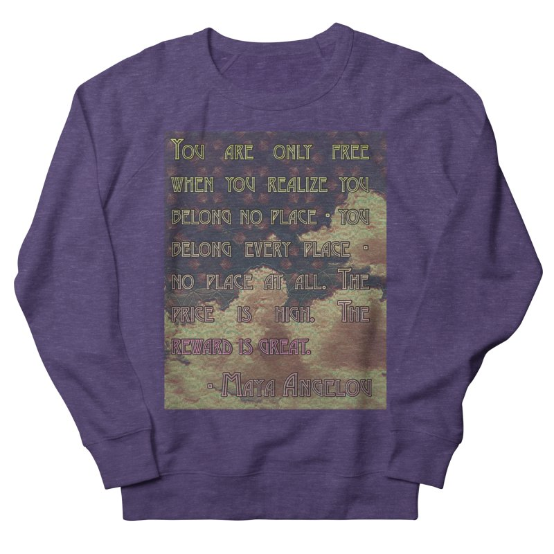 Everywhere & Nowhere - The Same Place Men's French Terry Sweatshirt by An Authentic Piece