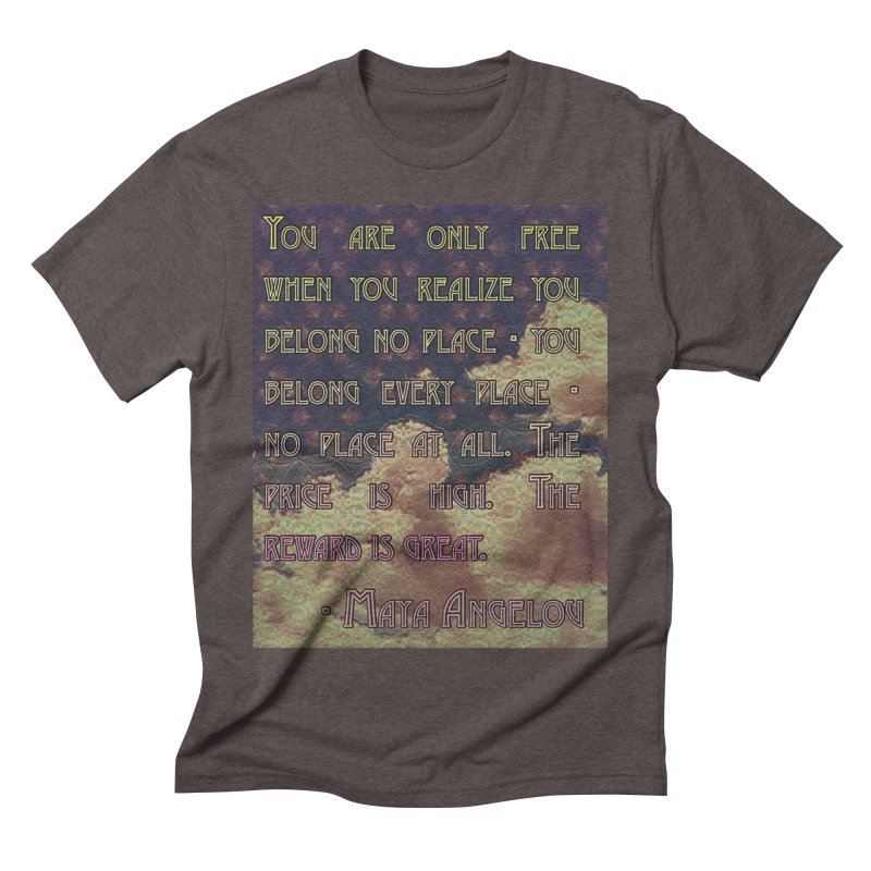 Everywhere & Nowhere - The Same Place Men's Triblend T-Shirt by An Authentic Piece