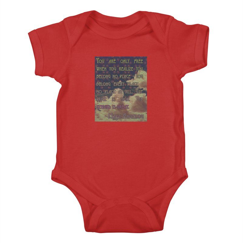 Everywhere & Nowhere - The Same Place Kids Baby Bodysuit by An Authentic Piece