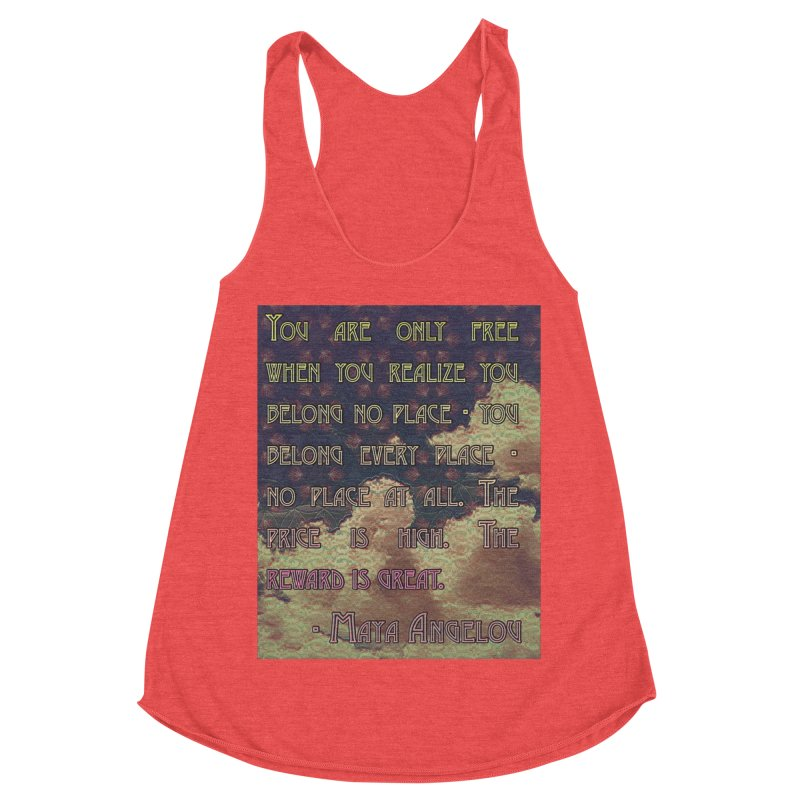 Everywhere & Nowhere - The Same Place Women's Racerback Triblend Tank by An Authentic Piece