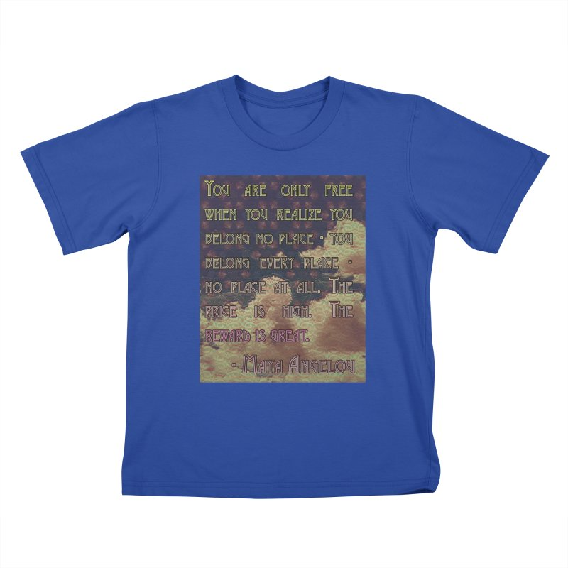 Everywhere & Nowhere - The Same Place Kids T-Shirt by An Authentic Piece