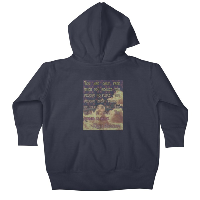Everywhere & Nowhere - The Same Place Kids Baby Zip-Up Hoody by An Authentic Piece