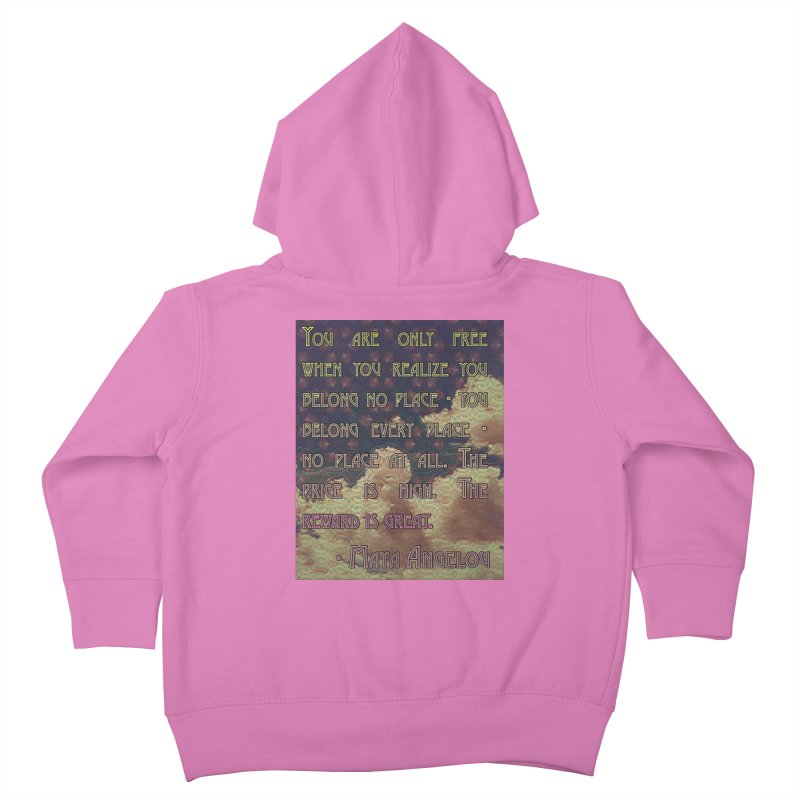 Everywhere & Nowhere - The Same Place Kids Toddler Zip-Up Hoody by An Authentic Piece