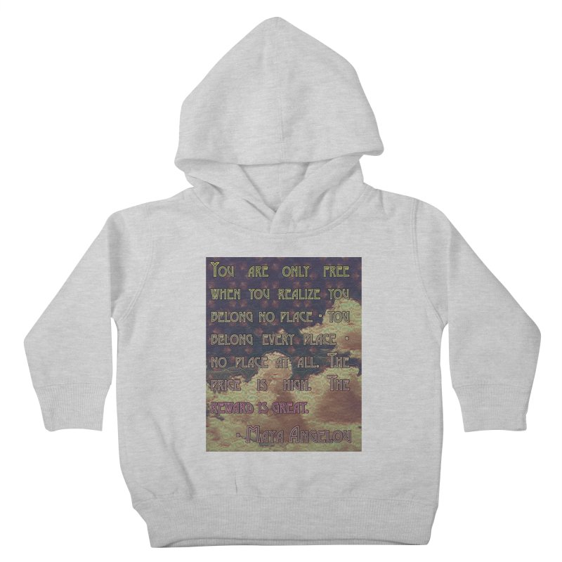 Everywhere & Nowhere - The Same Place Kids Toddler Pullover Hoody by An Authentic Piece