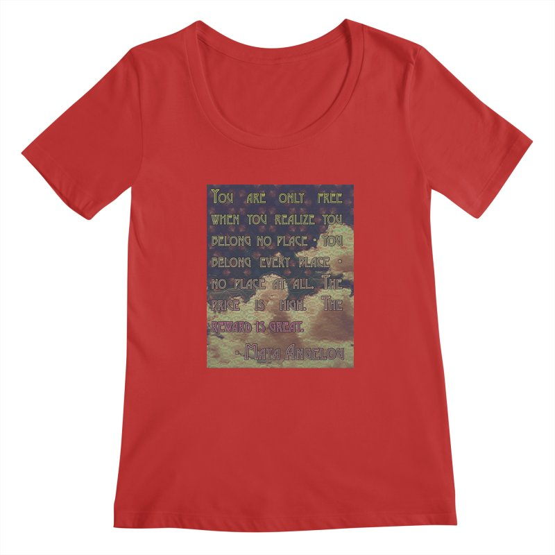 Everywhere & Nowhere - The Same Place Women's Regular Scoop Neck by An Authentic Piece