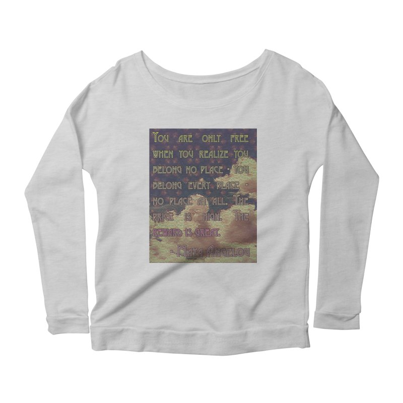 Everywhere & Nowhere - The Same Place Women's Scoop Neck Longsleeve T-Shirt by An Authentic Piece