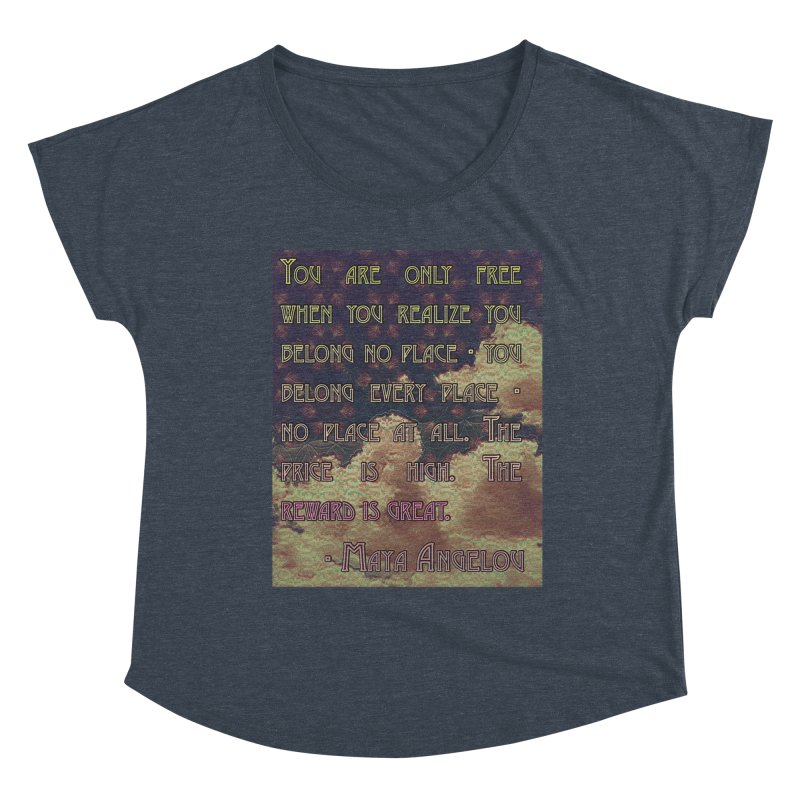 Everywhere & Nowhere - The Same Place Women's Dolman Scoop Neck by An Authentic Piece