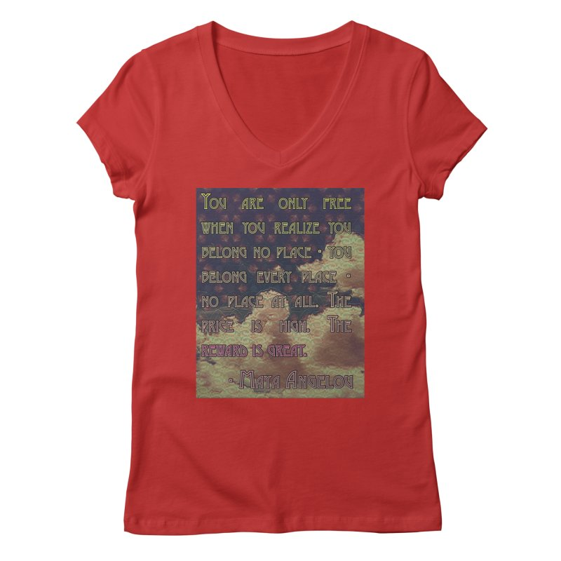 Everywhere & Nowhere - The Same Place Women's Regular V-Neck by An Authentic Piece