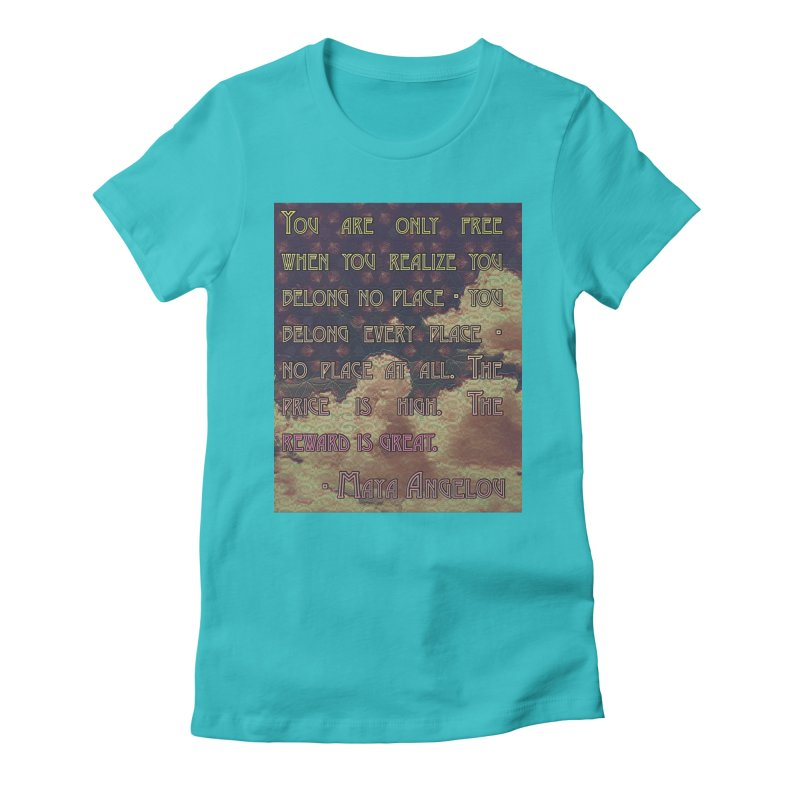 Everywhere & Nowhere - The Same Place Women's Fitted T-Shirt by An Authentic Piece