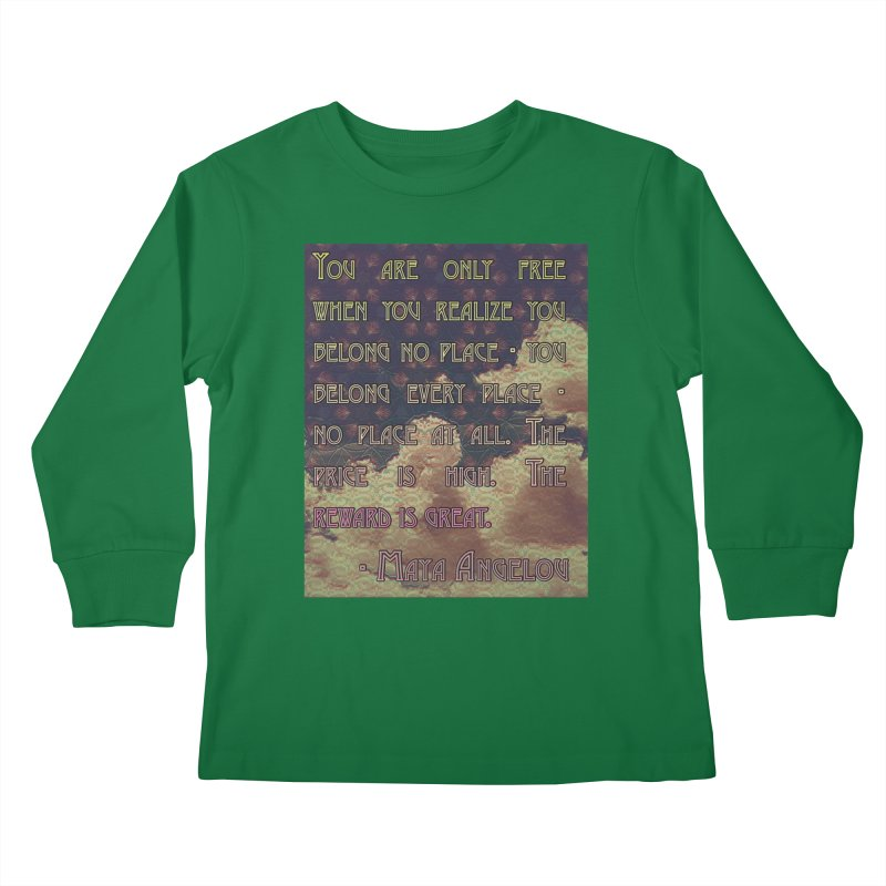 Everywhere & Nowhere - The Same Place Kids Longsleeve T-Shirt by An Authentic Piece