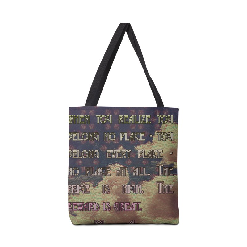 Everywhere & Nowhere - The Same Place Accessories Tote Bag Bag by An Authentic Piece