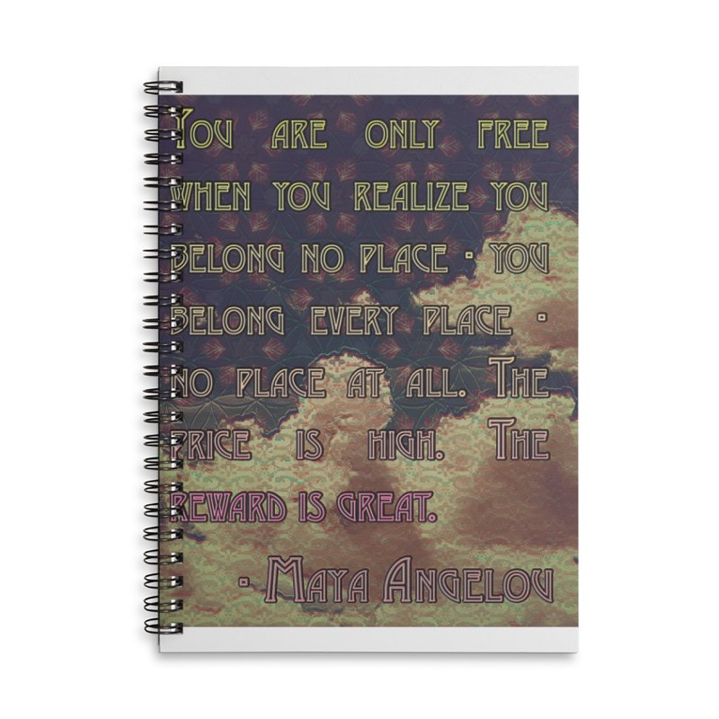 Everywhere & Nowhere - The Same Place Accessories Lined Spiral Notebook by An Authentic Piece