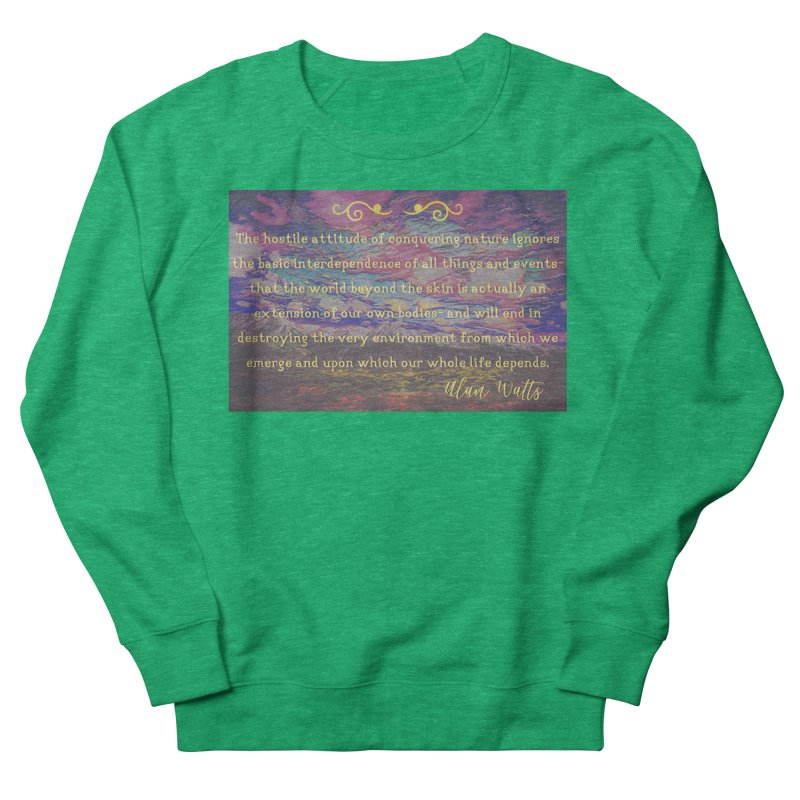 Hostile Towards Nature Women's French Terry Sweatshirt by An Authentic Piece
