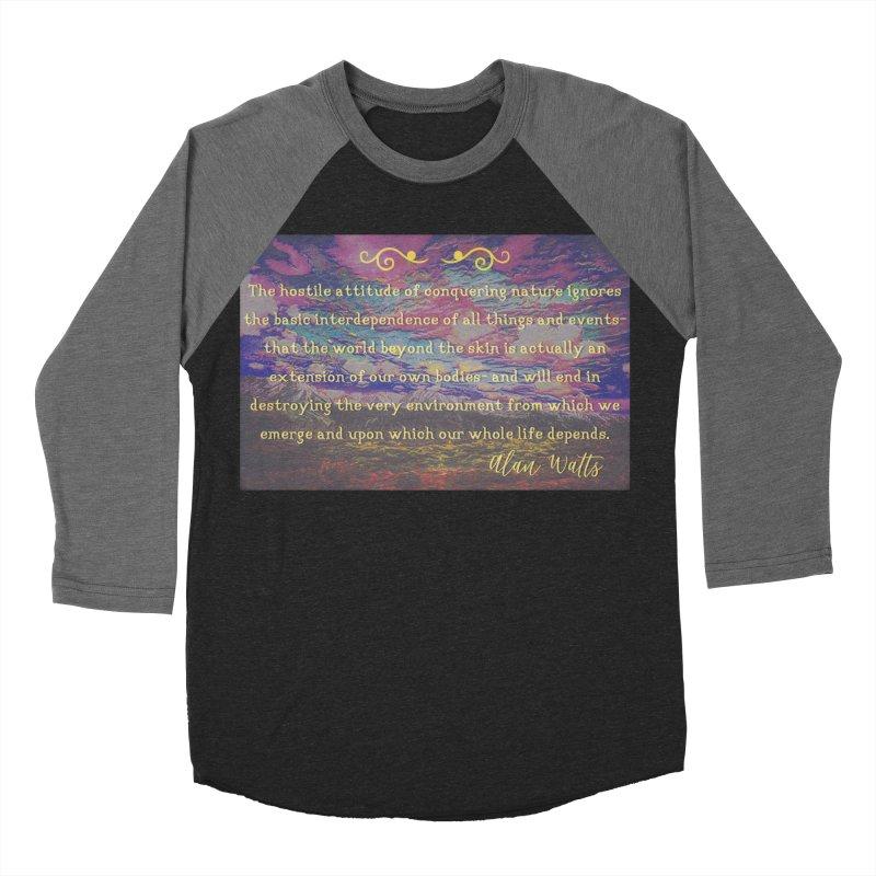 Hostile Towards Nature Men's Baseball Triblend Longsleeve T-Shirt by An Authentic Piece