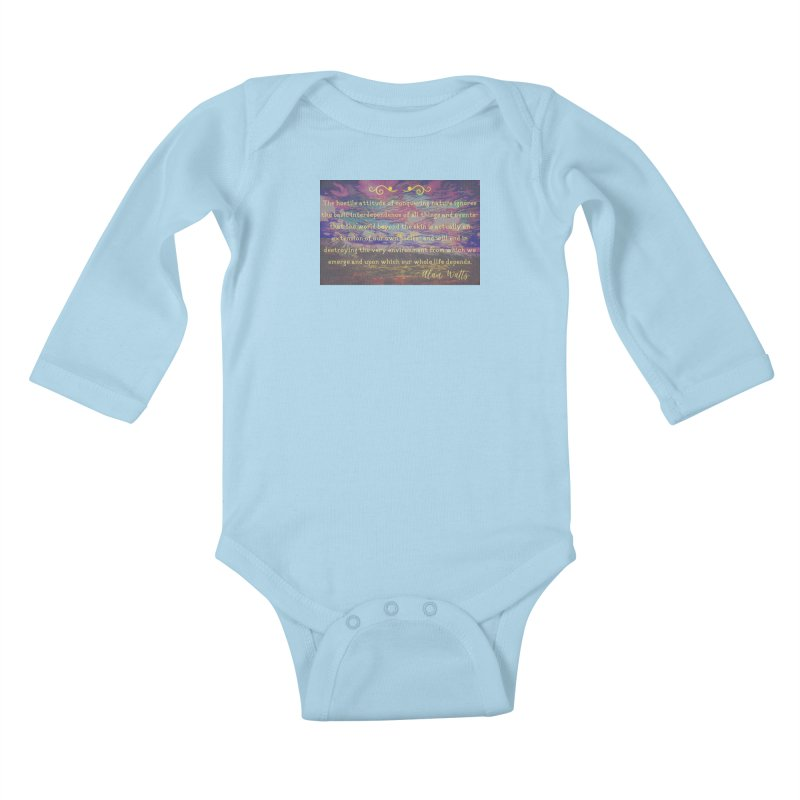 Hostile Towards Nature Kids Baby Longsleeve Bodysuit by An Authentic Piece
