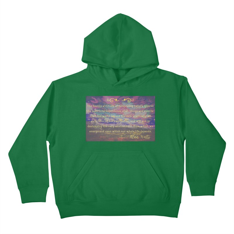 Hostile Towards Nature Kids Pullover Hoody by An Authentic Piece