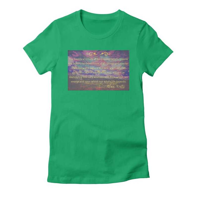 Hostile Towards Nature Women's Fitted T-Shirt by An Authentic Piece