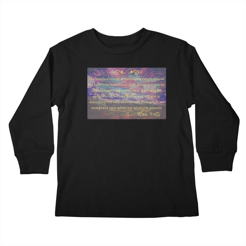 Hostile Towards Nature Kids Longsleeve T-Shirt by An Authentic Piece