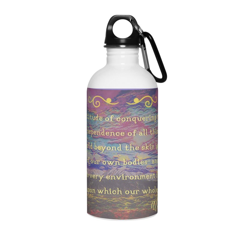 Hostile Towards Nature Accessories Water Bottle by An Authentic Piece