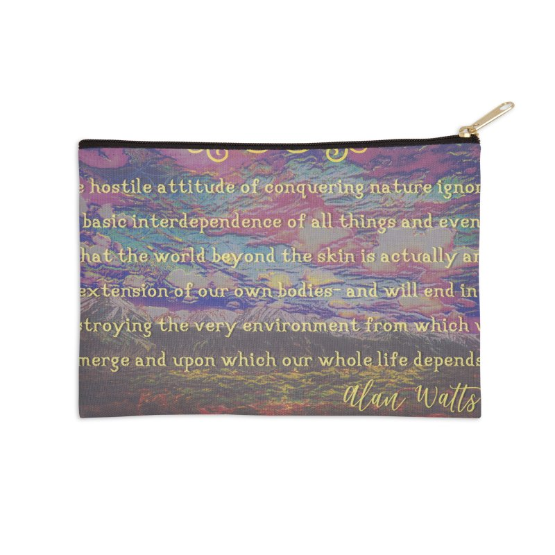 Hostile Towards Nature Accessories Zip Pouch by An Authentic Piece