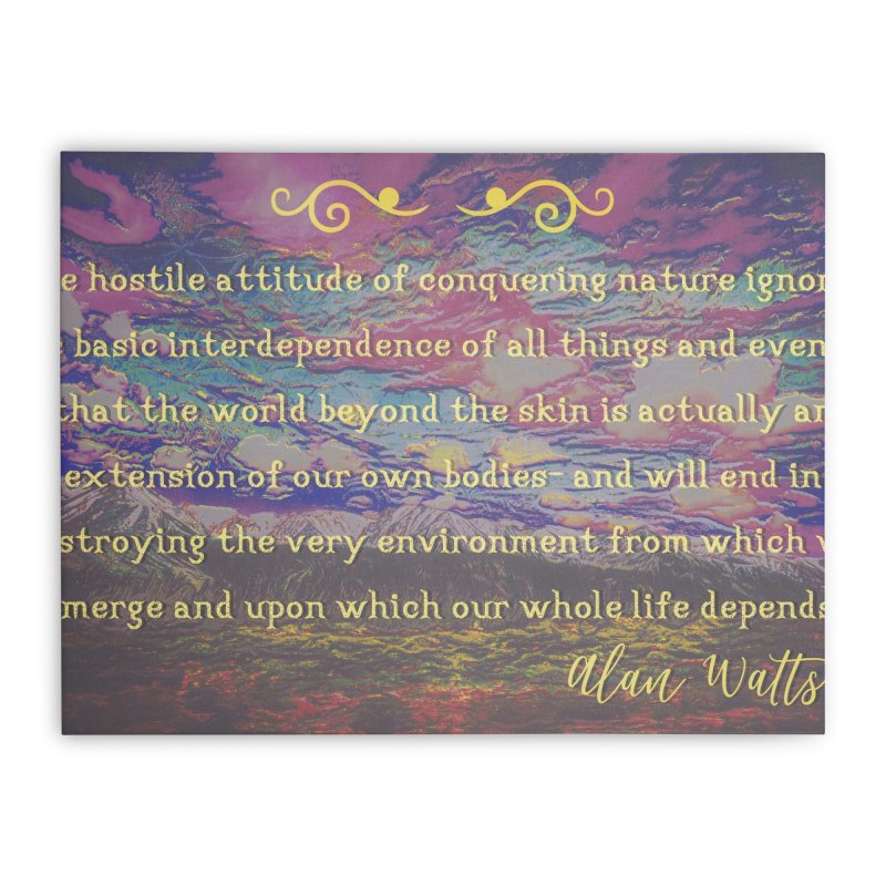 Hostile Towards Nature Home Stretched Canvas by An Authentic Piece