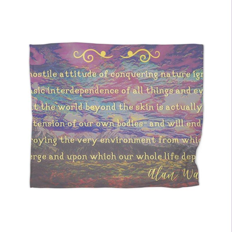 Hostile Towards Nature Home Blanket by An Authentic Piece