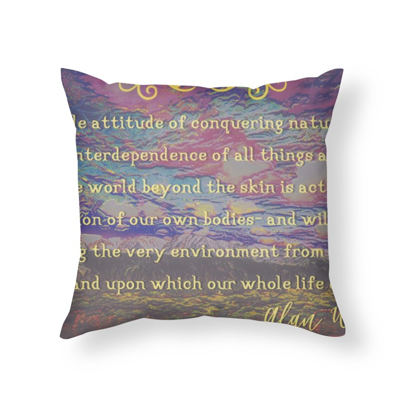 Hostile Towards Nature Home Throw Pillow by An Authentic Piece