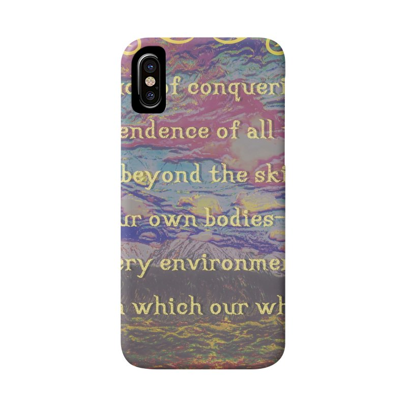 Hostile Towards Nature Accessories Phone Case by An Authentic Piece