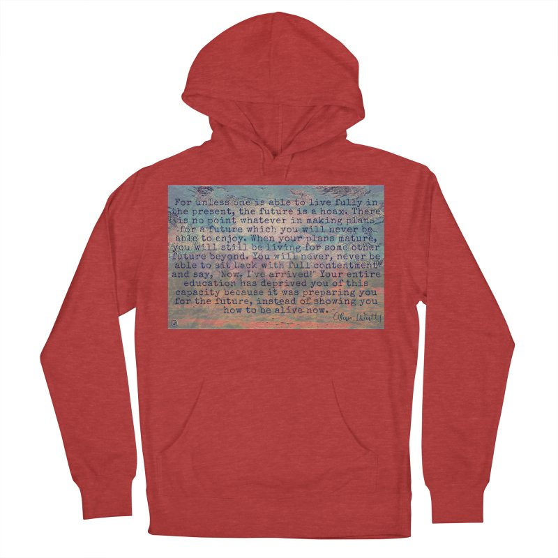 Be Present Men's French Terry Pullover Hoody by An Authentic Piece
