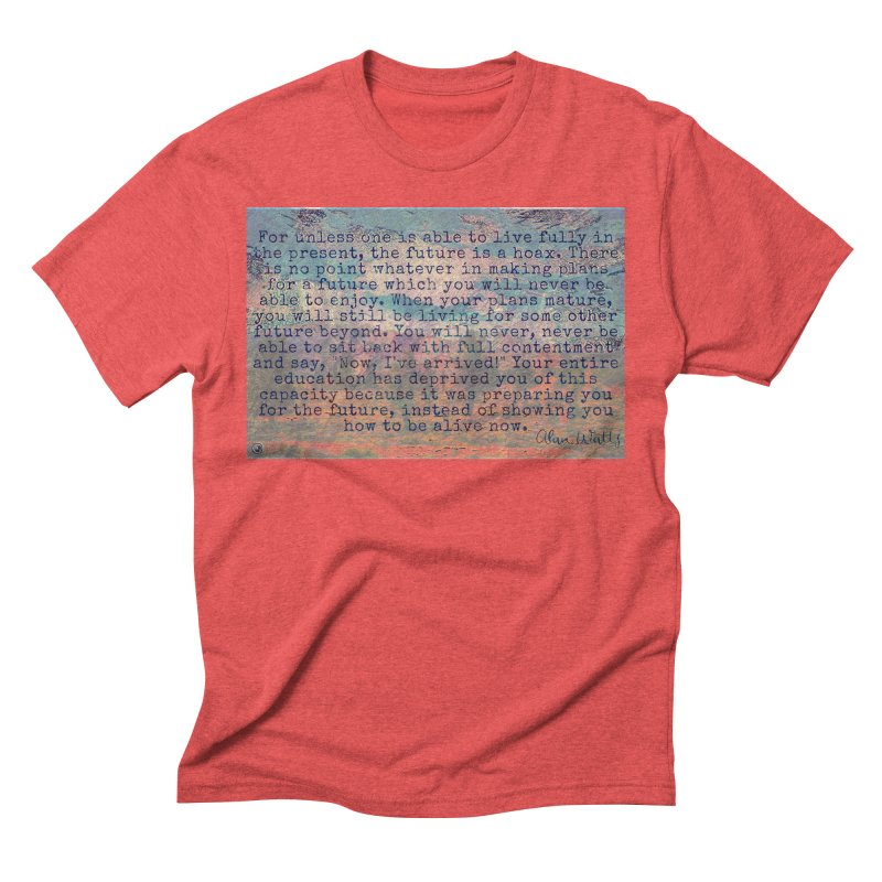 Be Present Men's Triblend T-Shirt by An Authentic Piece