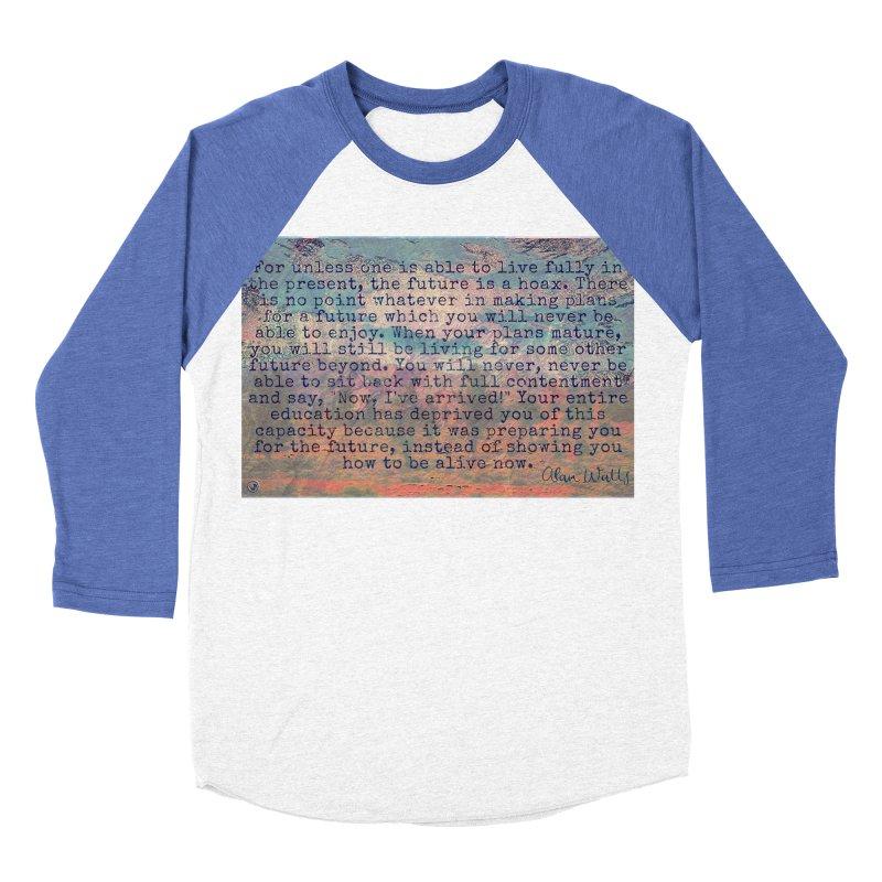 Be Present Men's Baseball Triblend Longsleeve T-Shirt by An Authentic Piece