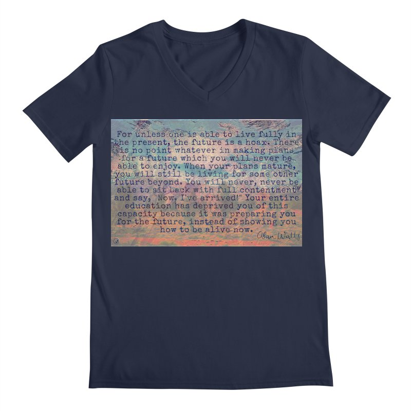 Be Present Men's Regular V-Neck by An Authentic Piece