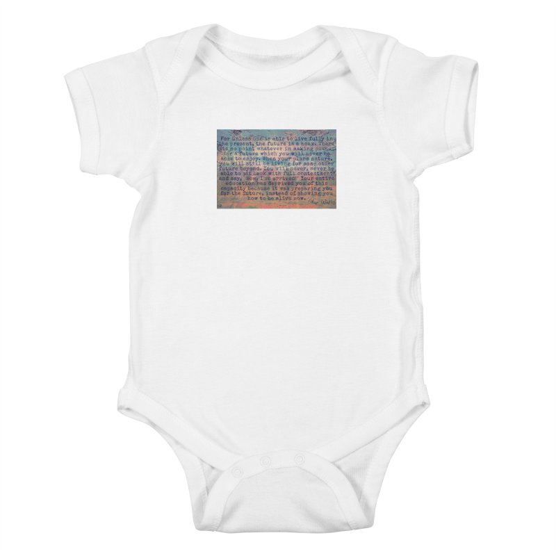 Be Present Kids Baby Bodysuit by An Authentic Piece