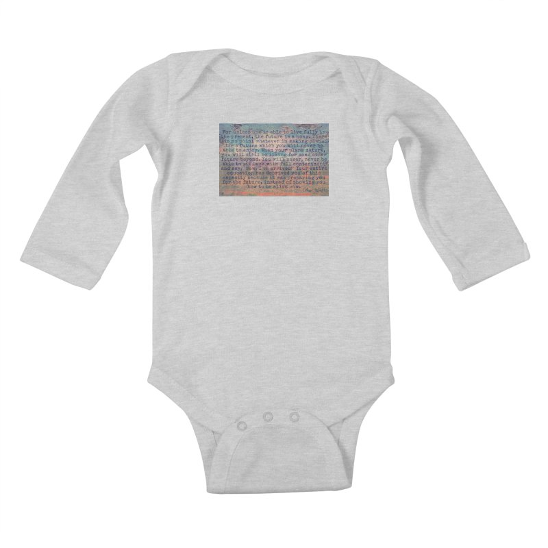 Be Present Kids Baby Longsleeve Bodysuit by An Authentic Piece