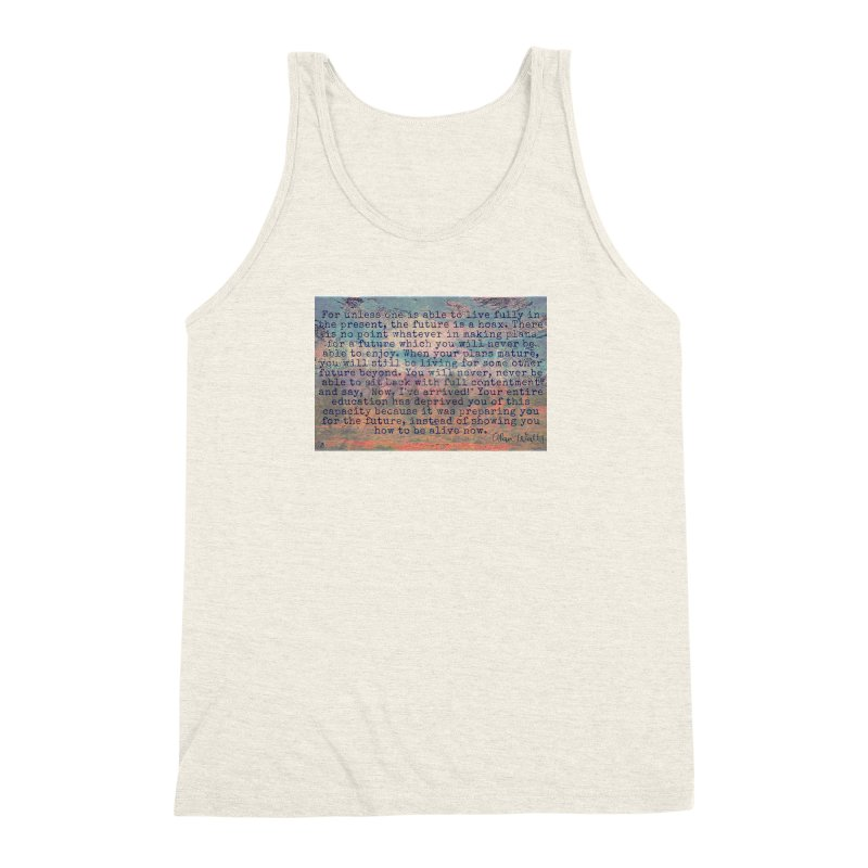 Be Present Men's Triblend Tank by An Authentic Piece