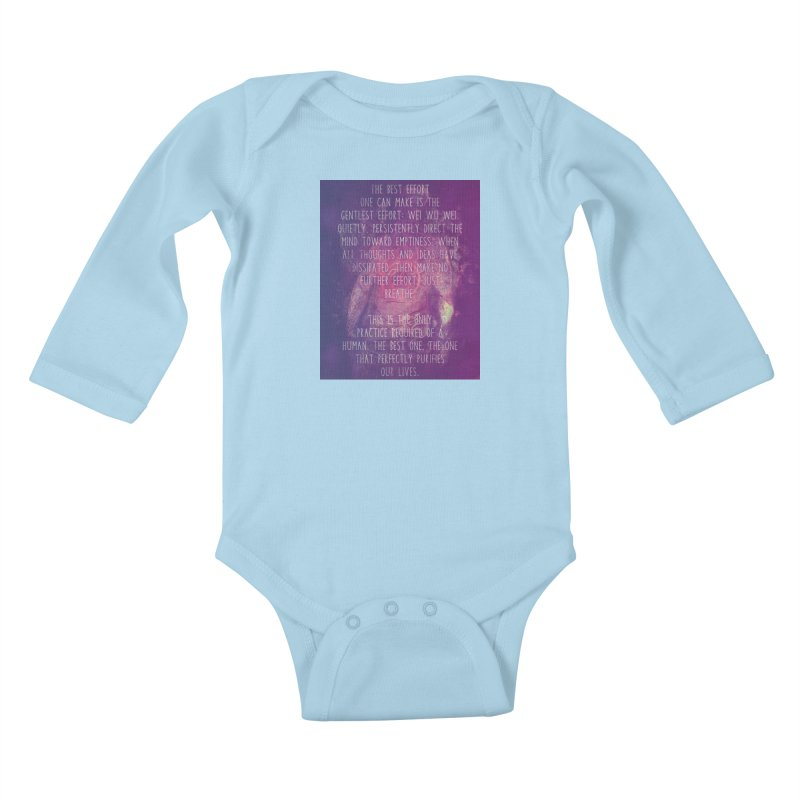Just Breathe Kids Baby Longsleeve Bodysuit by An Authentic Piece