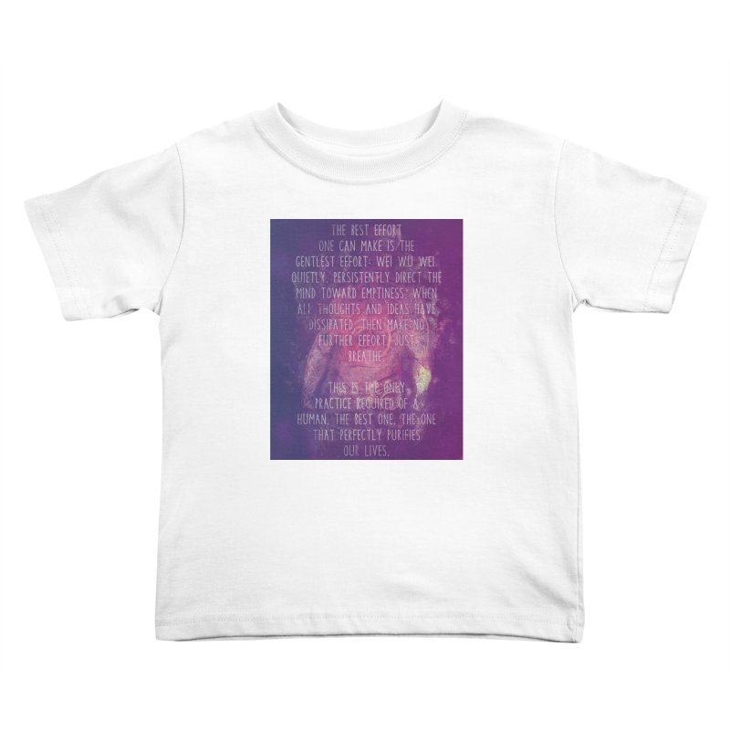 Just Breathe Kids Toddler T-Shirt by An Authentic Piece