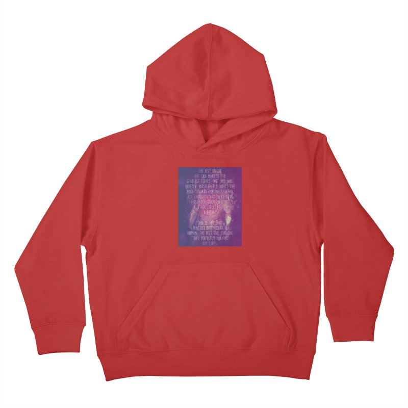 Just Breathe Kids Pullover Hoody by An Authentic Piece