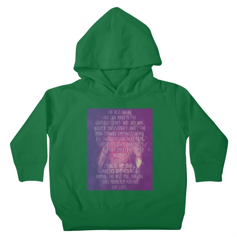 Just Breathe Kids Toddler Pullover Hoody by An Authentic Piece