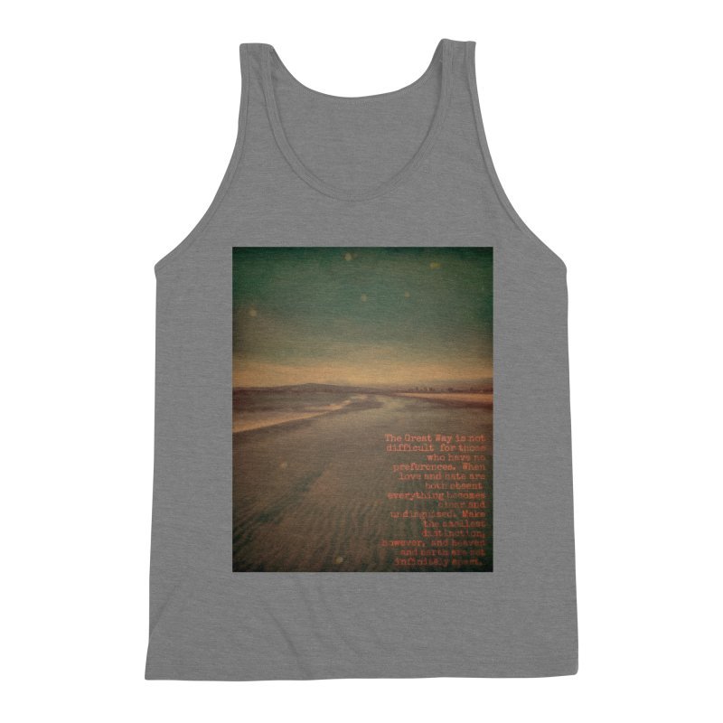 The Great Way Men's Triblend Tank by An Authentic Piece