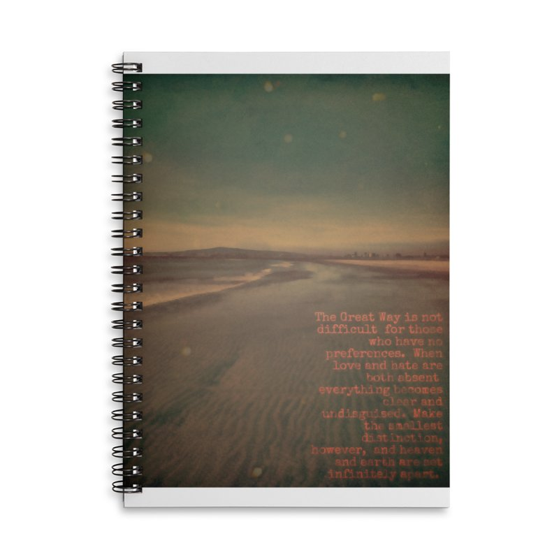 The Great Way Accessories Lined Spiral Notebook by An Authentic Piece