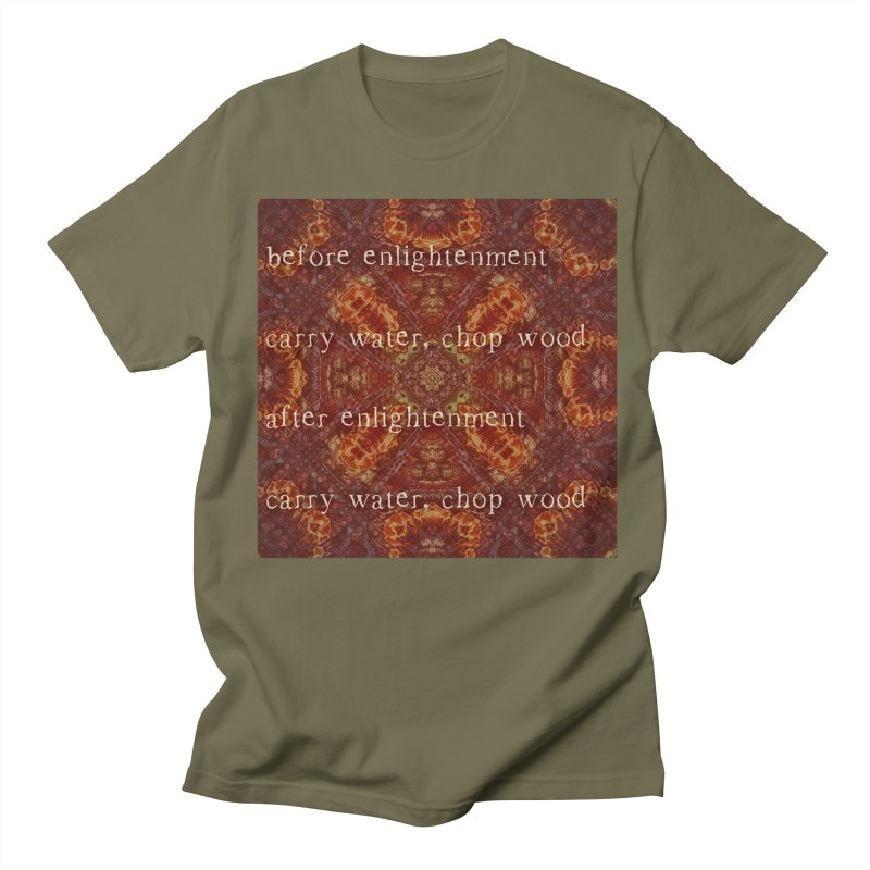Before & After Enlightenment Men's Regular T-Shirt by An Authentic Piece