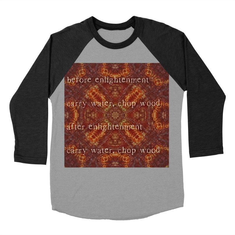 Before & After Enlightenment Women's Baseball Triblend Longsleeve T-Shirt by An Authentic Piece