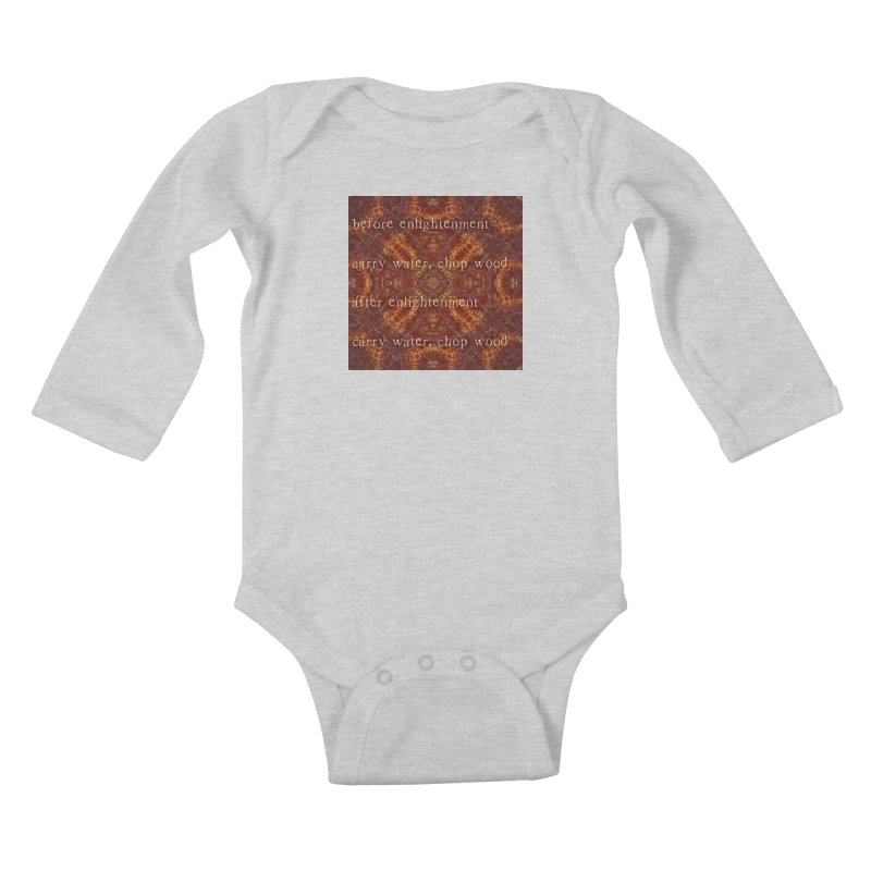 Before & After Enlightenment Kids Baby Longsleeve Bodysuit by An Authentic Piece