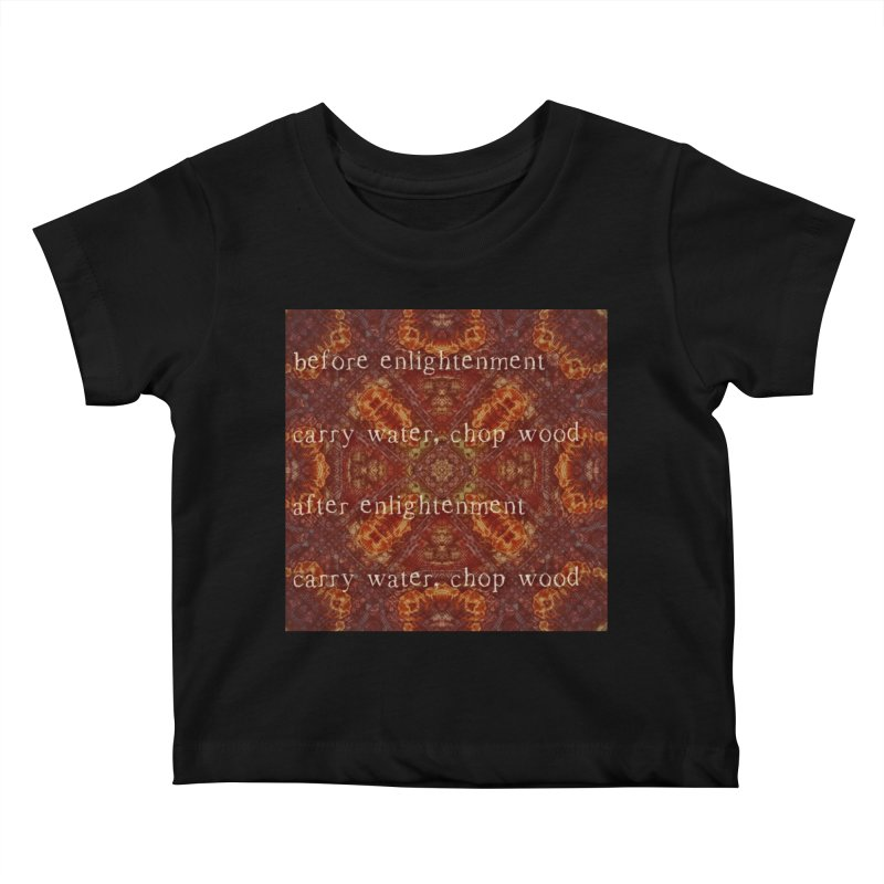 Before & After Enlightenment Kids Baby T-Shirt by An Authentic Piece