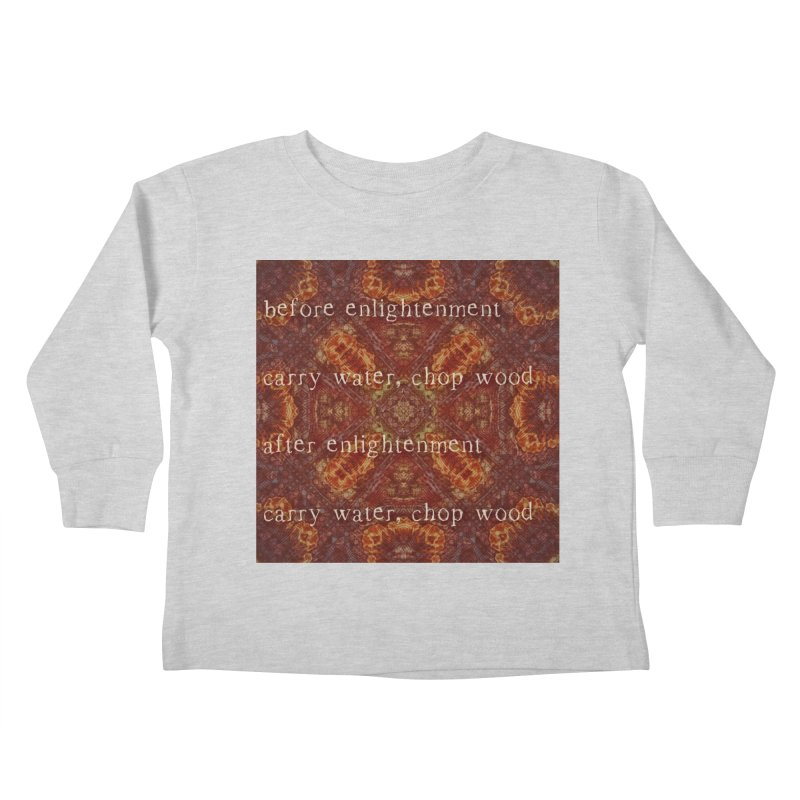 Before & After Enlightenment Kids Toddler Longsleeve T-Shirt by An Authentic Piece