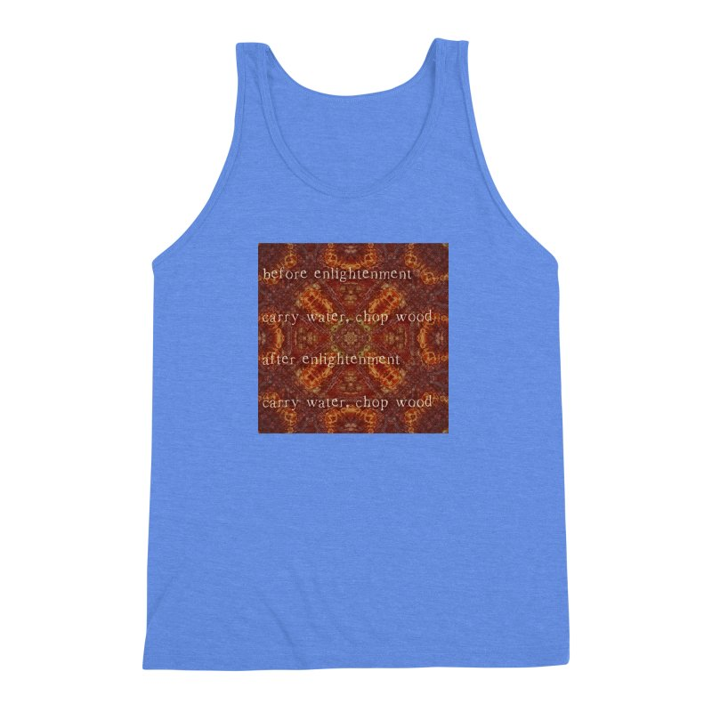 Before & After Enlightenment Men's Triblend Tank by An Authentic Piece