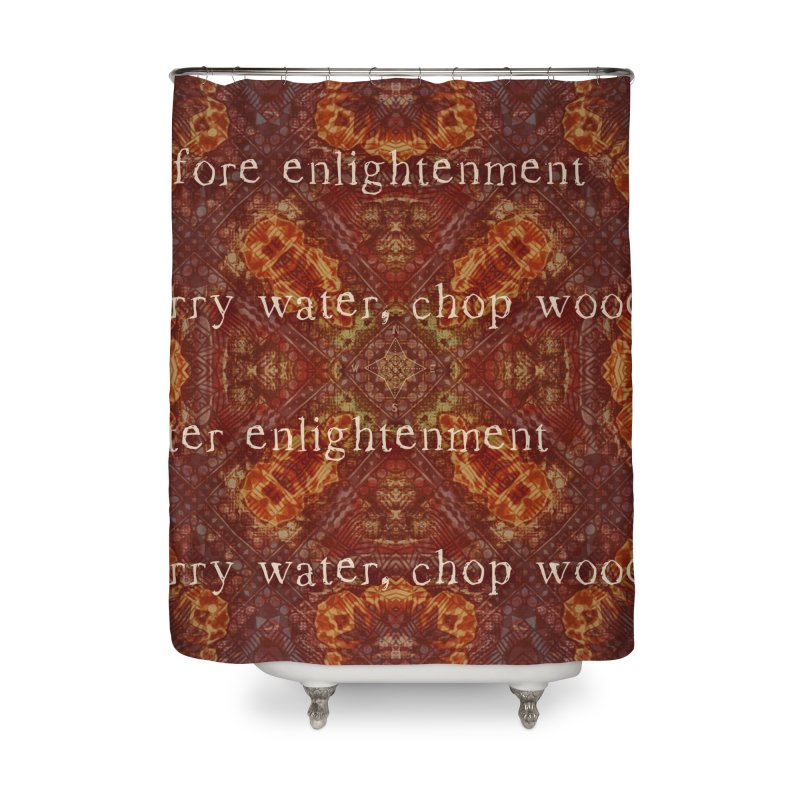 Before & After Enlightenment Home Shower Curtain by An Authentic Piece