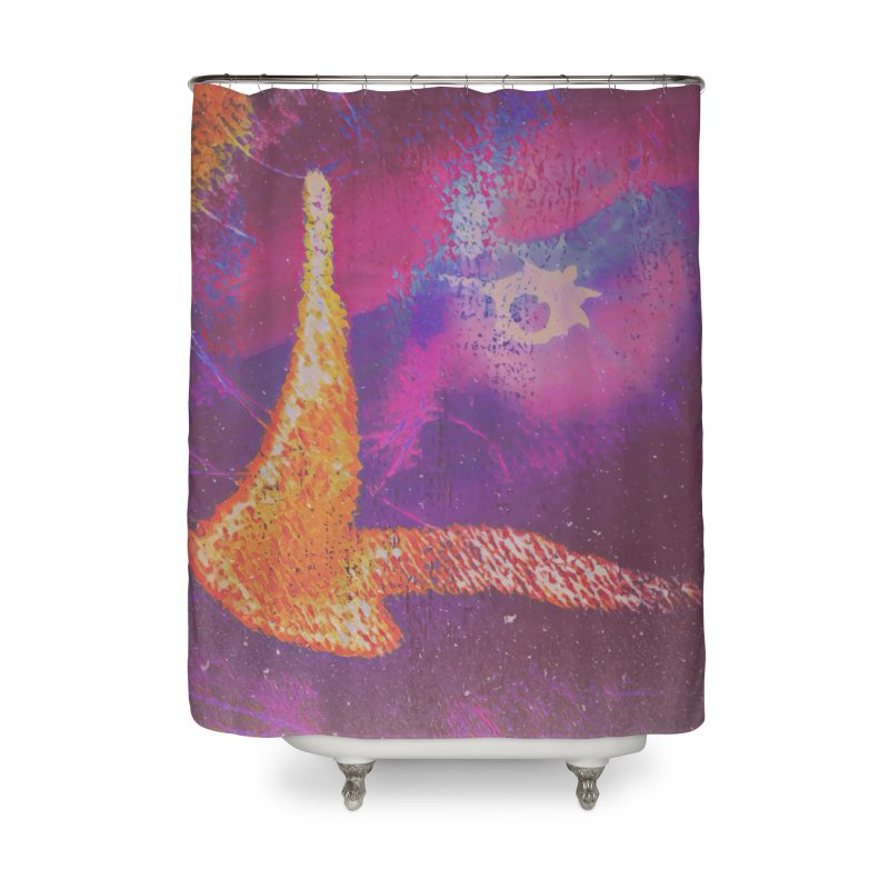 Fire Bird Home Shower Curtain by An Authentic Piece
