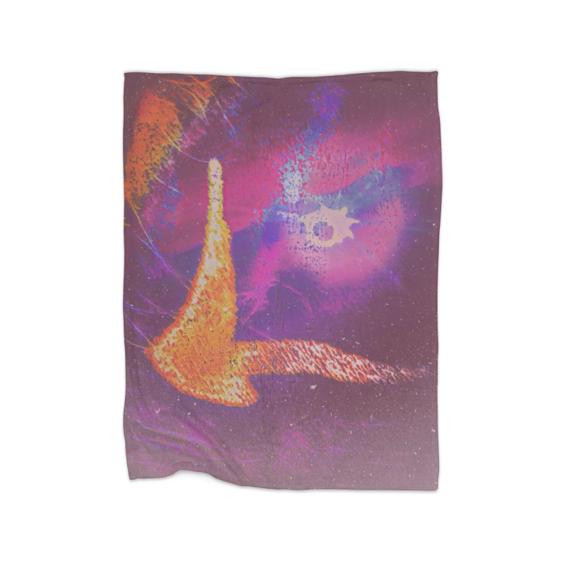 Fire Bird Home Fleece Blanket Blanket by An Authentic Piece